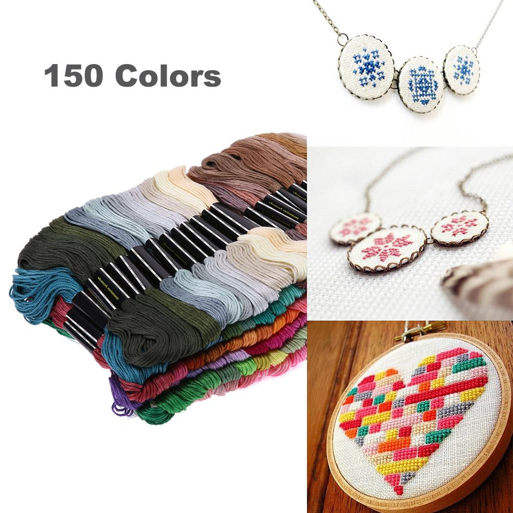New 150multicolor Random Dmc Cotton Thread Embroidery Thread Floss