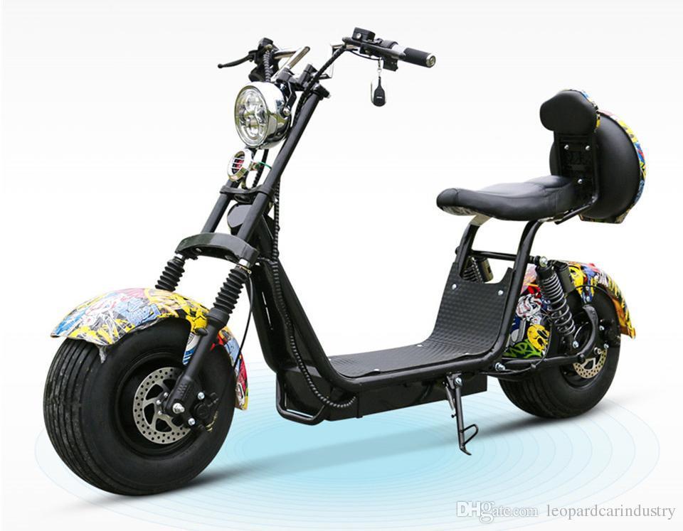 60V1500W Şehir Elektrikli Motosiklet Yetişkin ATV Lityum Pil Spor Araba Dağ SUV İki Wheeler Scooter