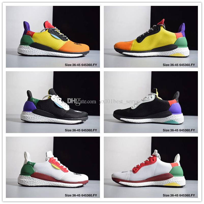 82ca715669826 2018 New Pharrell Williams X PW HU HOLI SOLAR Running Shoes for High ...
