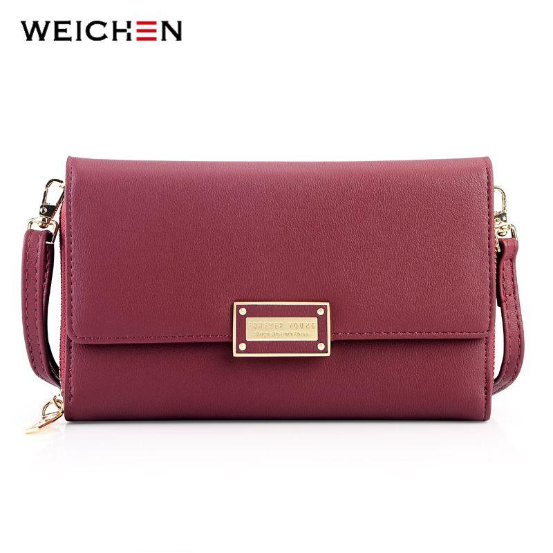 307451d9f38b 2019 Fashion WEICHEN 2018 New Multi Functiona Ladies Shoulder Bag   Clutch Big  Capacity Leather Female Wallet Purses Messenger Bag Women NEW Satchel  Laptop ...