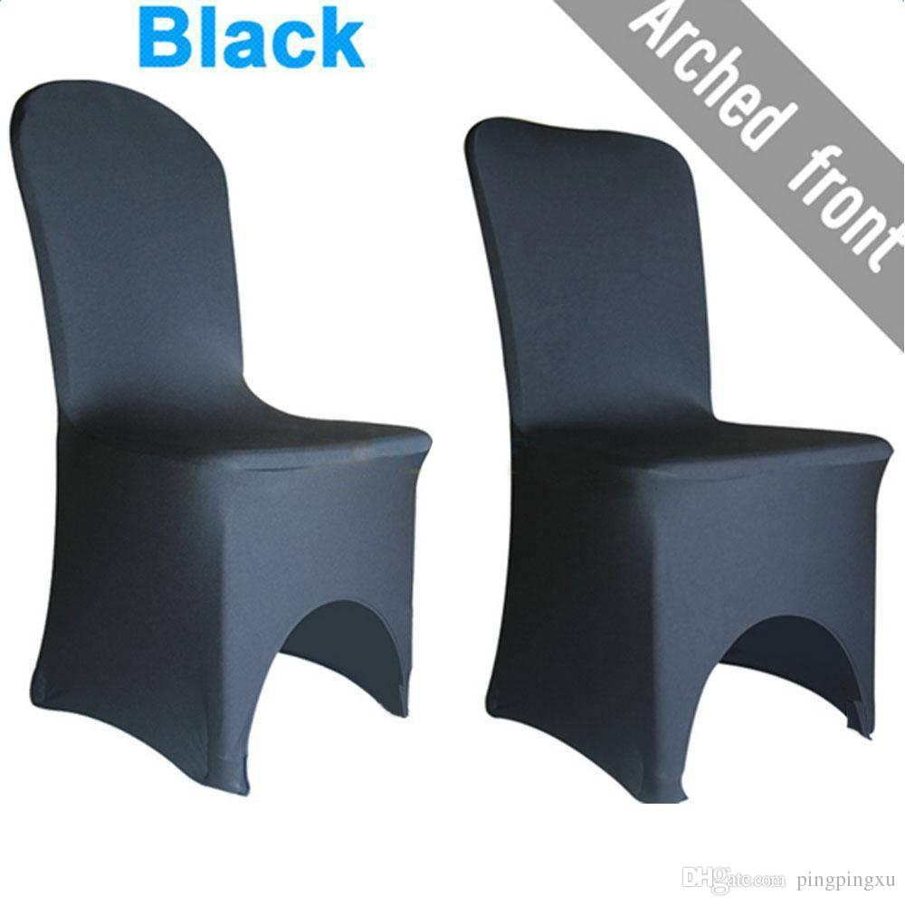 elastic polyester spandex chair covers black seat covers for dining rh dhgate com Dining Room Chair Covers Target Fitted Dining Room Chair Covers