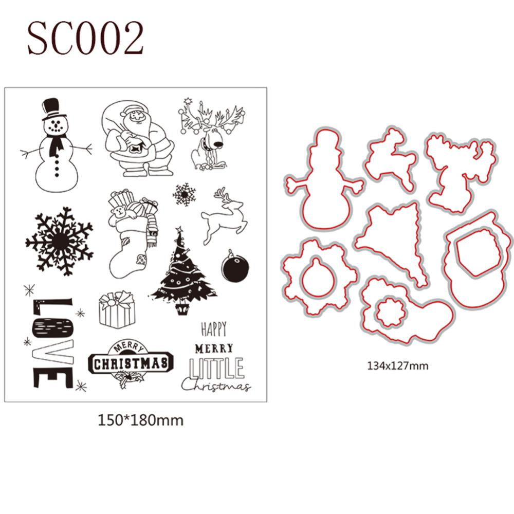 Christmas Series2 Cutting Dies Transparent Stamp Clear Stamp DIY ...