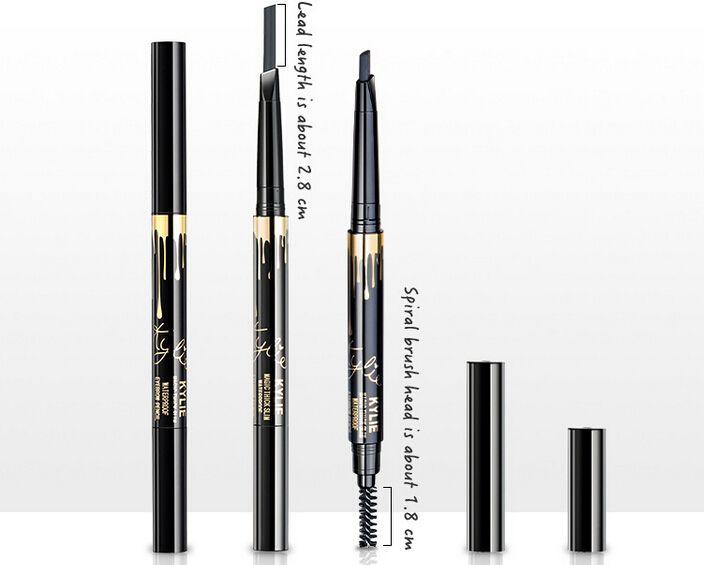Hot New Item Miss Kylie Double Side Sopracciglio Pecncil i di alta qualità matita sopracciglia spedizione gratuita