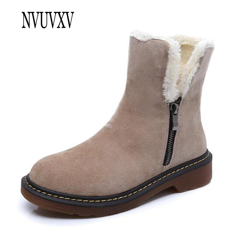 f532ce27b2f 2019 Fashion Middle Tube Snow Boots Side Zipper Woman Boots Leisure Keep  Warm Women Shoes Non Slip Waterproof Botas Mujer Sh242 Ladies Shoes Moon  Boots From ...