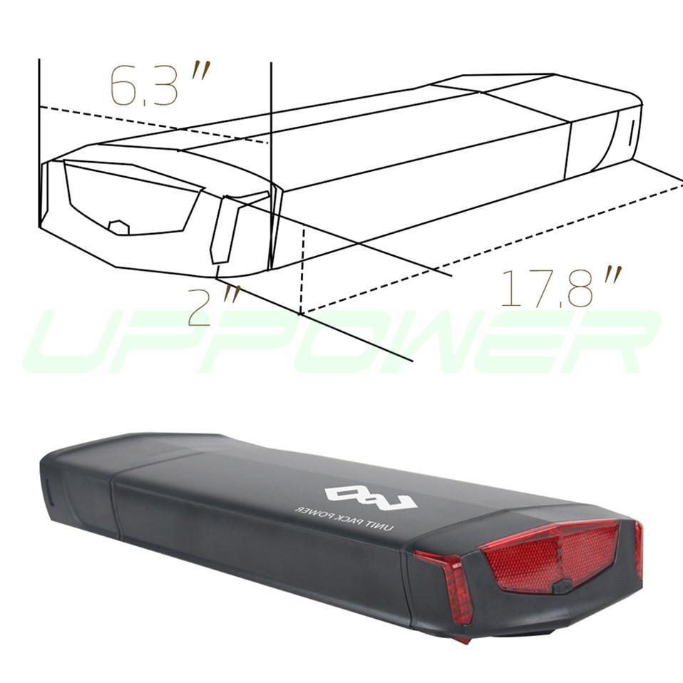 US UE No Tasse bicicletta elettrica 36V 10Ah 13Ah posteriore Rack Batteria Bafang BBS01 BBS02 eBike batteria + doppio strato Portapacchi