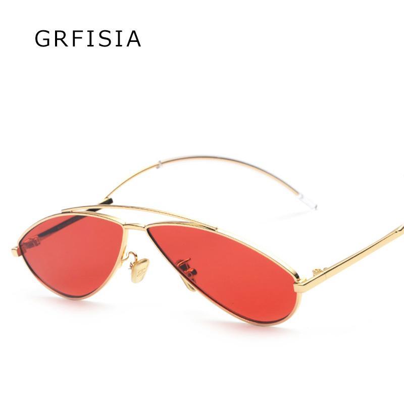 3da4be6d5b GRFISIA Vintage Small Sunglasses Women Men 2018 Luxury Glasses Brand ...