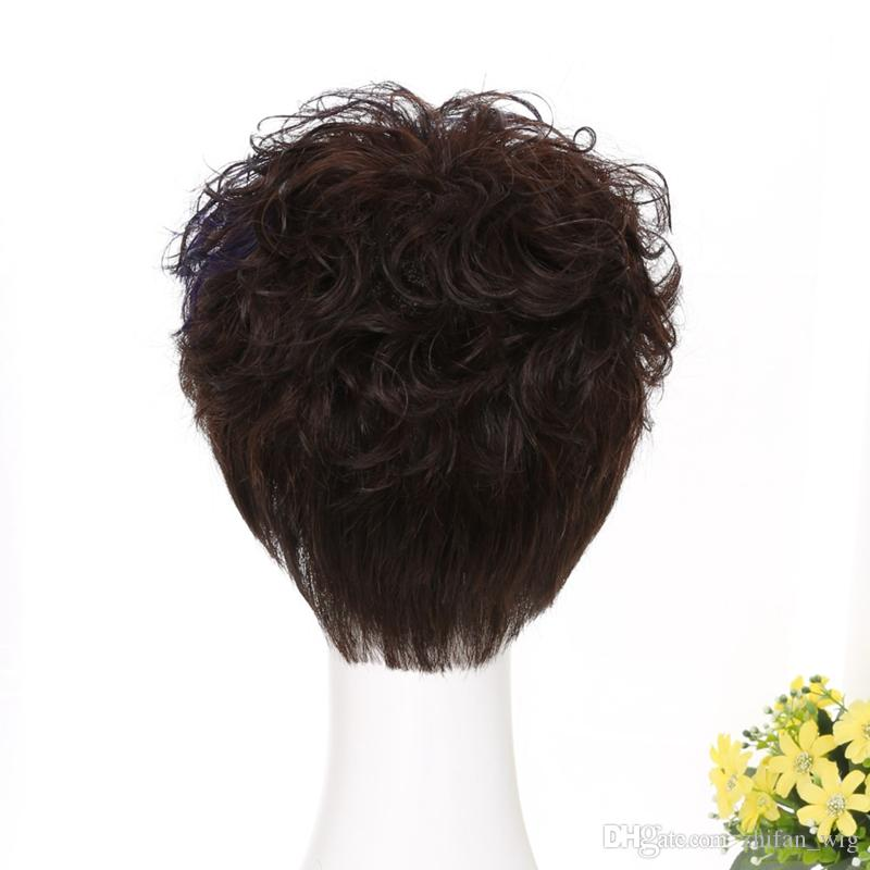 Z&F Shot Curly Human Hair Full Lace Wigs Super Natural Loose Wave All Hand Made Wig