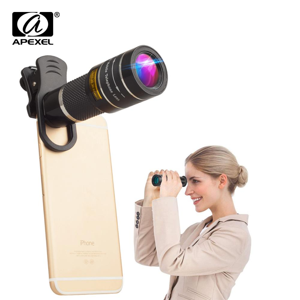 Wholesale 20X Zoom Lens Telescope Monocular For IPhone X 7 8 Android  Smartphones World Cup Outdoor Travel Hunting Sports Camping Bird Watching  Binoculars ...