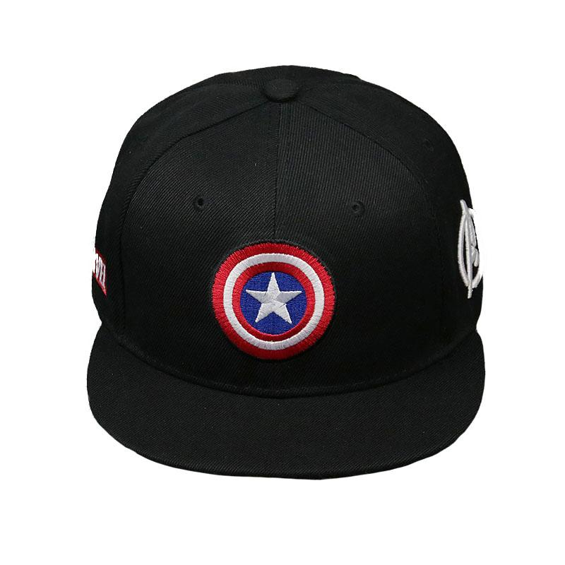 High Quality Cotton Marvel Superhero Captain America Baseball Cap Hip Hop  Sun Hats For Man Women Five Pointed Star Snapback Caps Skull Caps Men Hats  From ... c6e91dcc840b