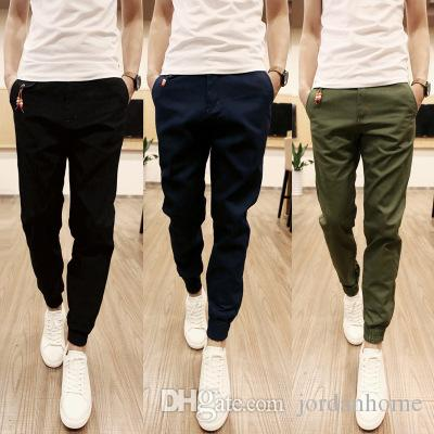 Wholesale New Mens Skinny Joggers Chinos Slim Pants Men Trousers Hip Hop Pantalones Hombre Plus Size S 3xl