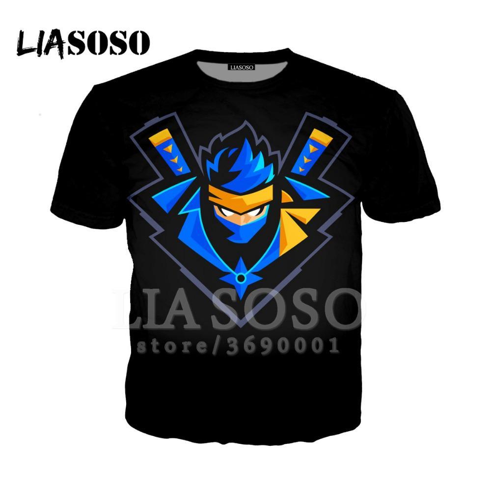 e4219fc2858a0 LIO 3D Print Women Men Game Fortnite Ninja Tee Shirt Summer T Shirt Cool  Pullover O Neck Short Sleeve Brand Tops X1242 Fun Shirts T Shirts Online  Shopping ...
