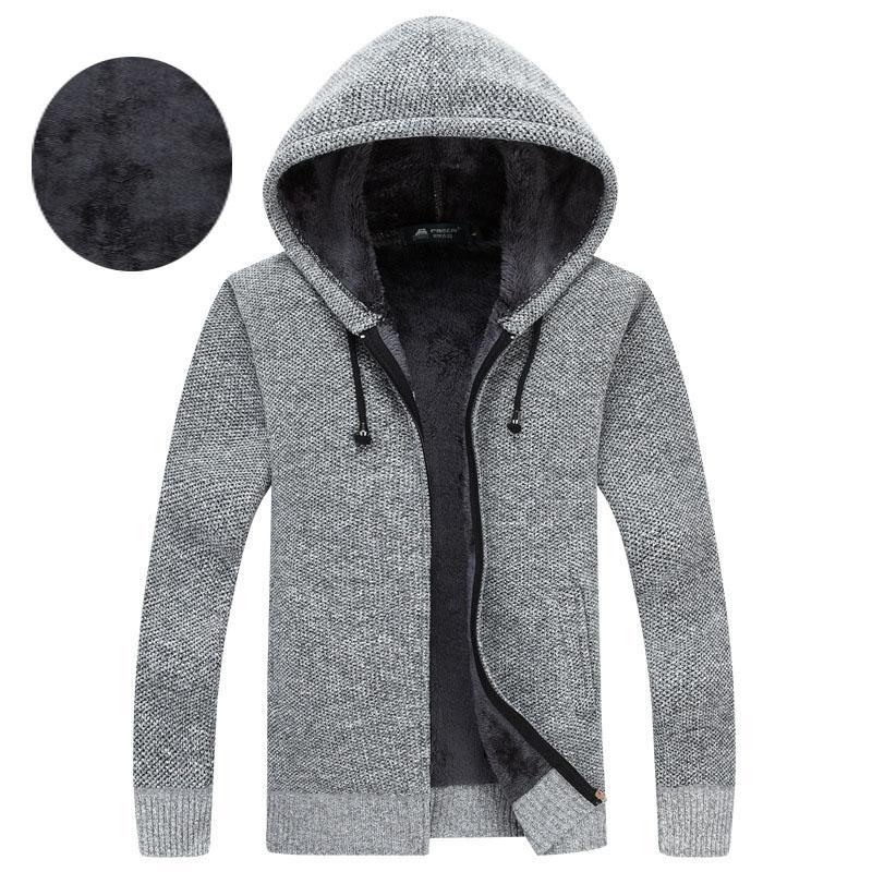 Männer Mode Schlank Stricken Pullover Winter Halb Hight Zipper Dicke Warme männer Pullover Pullover Casual langarm Pullover für männer