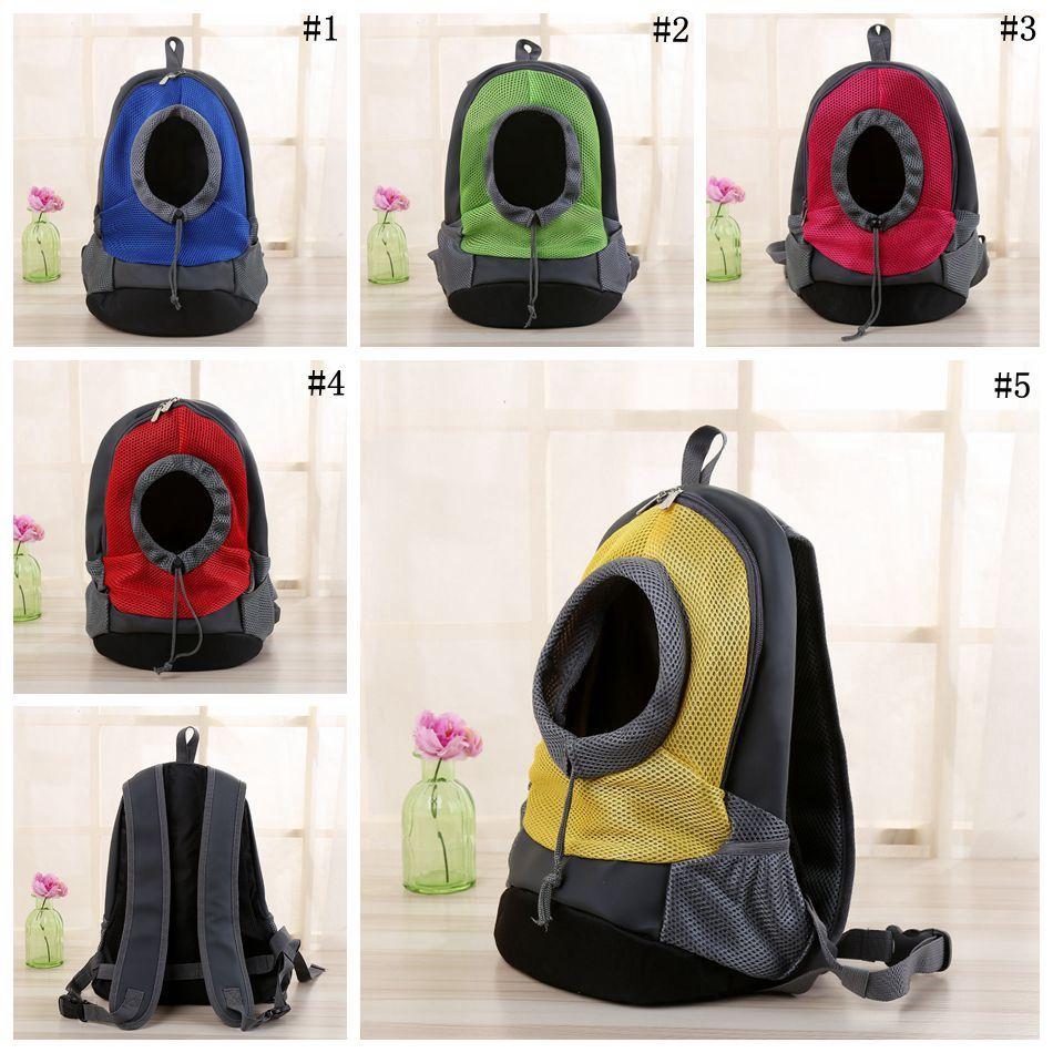 Pet Dog Carrier Pet Backpack Bag Bolsa de viaje portátil Bolsa delantera Malla Mochila Salir Bolsas de hombro doble OOA4705