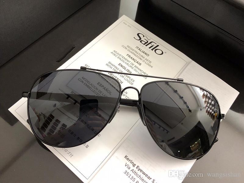 5cdf1767fe8 New Style Brand Designer Mens Fashion Glasses 90111 Classic Pilots ...