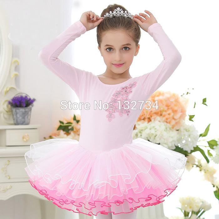 05ec09fd35ad HIGH QUALITY!!! Ballet Dance Costume Girls Long Sleeve Children Swan ...