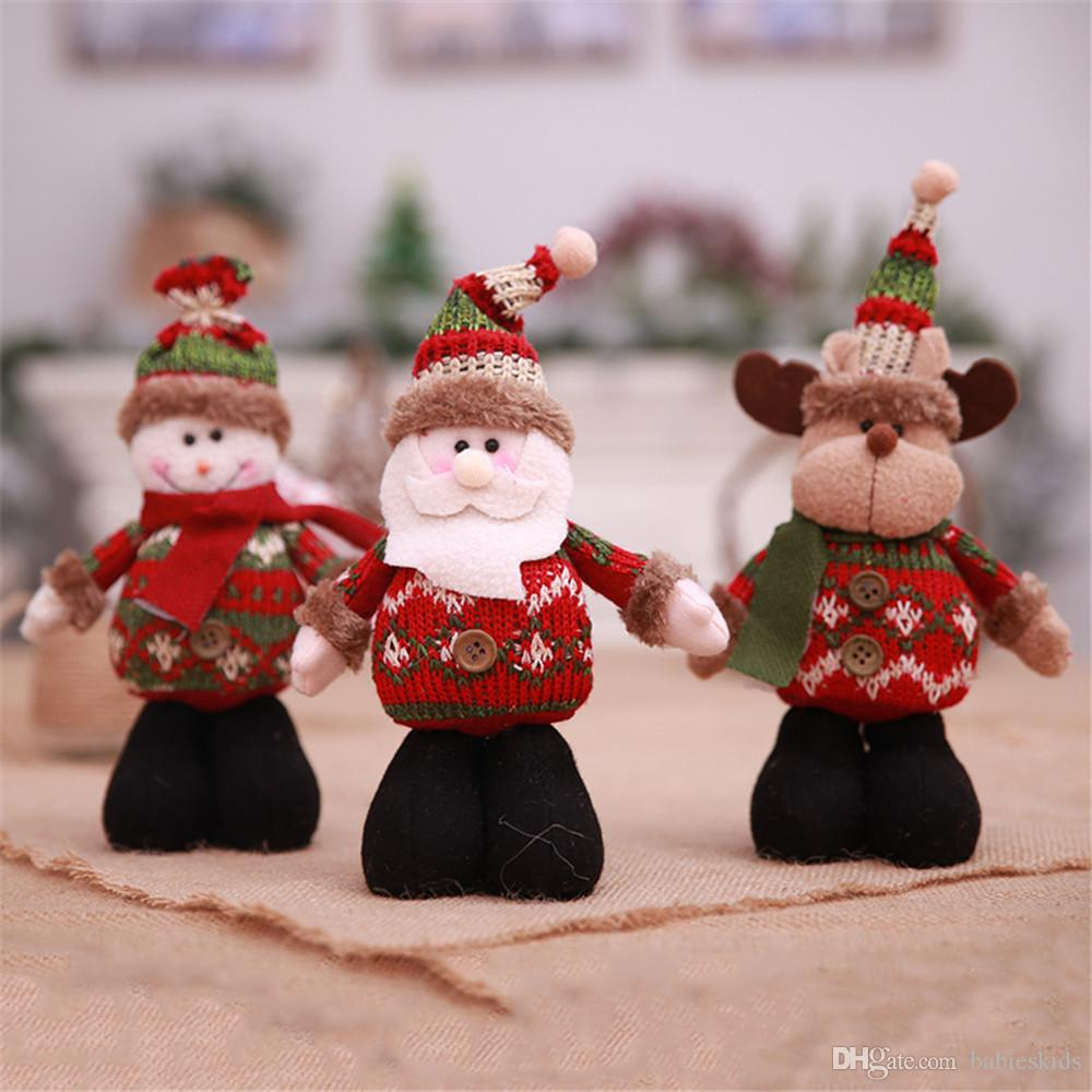 Merry Christmas Ornaments Doll Toy Gift Santa Claus Snowman Tree Toy ...