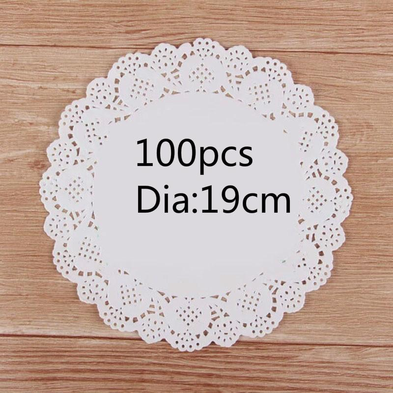 2019 190mm Vintage Napkin Hollowed Lace Paper Mat Crafts Paper