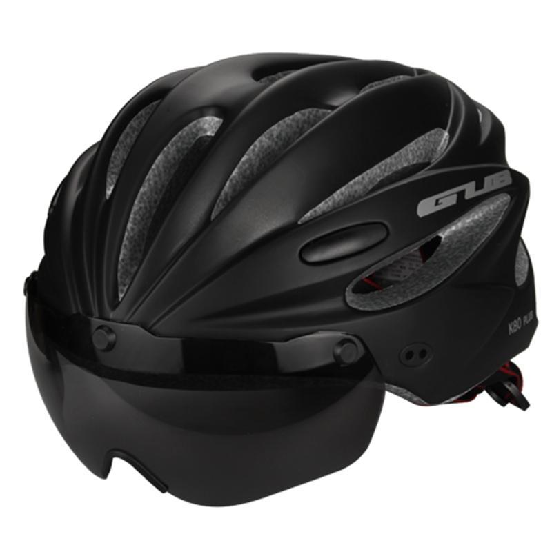 Acheter Casque De Vélo Avec Visière Lunettes Magnétiques Vtt