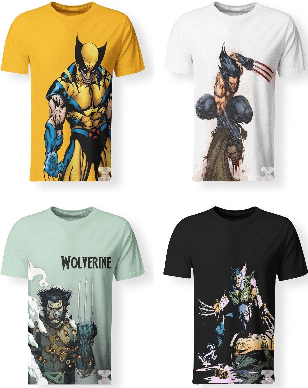 0435b7b30 Wolverine Logan Marvel Comics X Men Avengers T Shirt 3D Print Men Women S  7XL Funny Unisex Casual Gift Designs Shirts Interesting T Shirt Designs  From ...