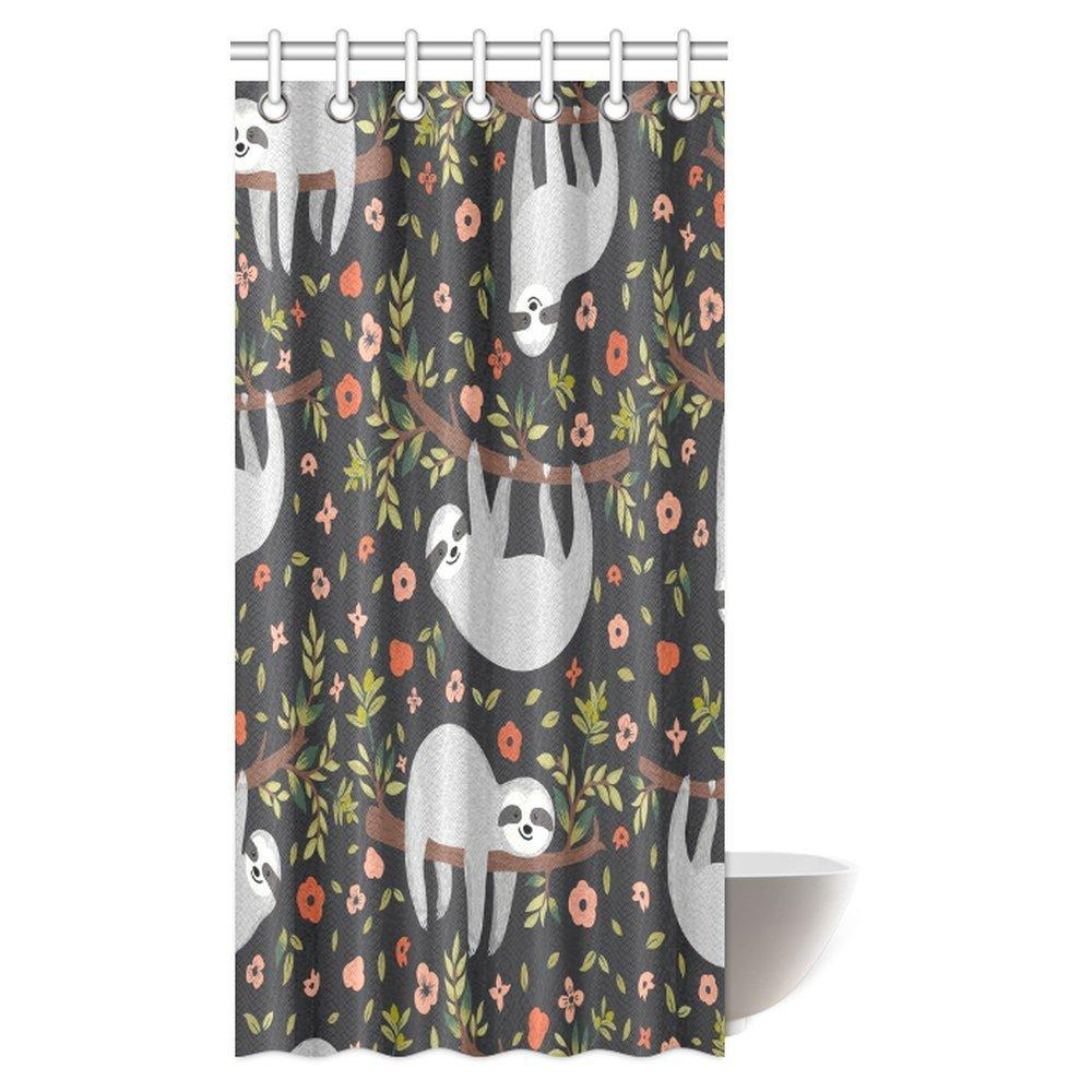 2019 Aplysia Cute Baby Funny Sloth On Tree Fabric Bathroom Shower Curtain With Hooks 36 X 72 Inches From Icelly 5252