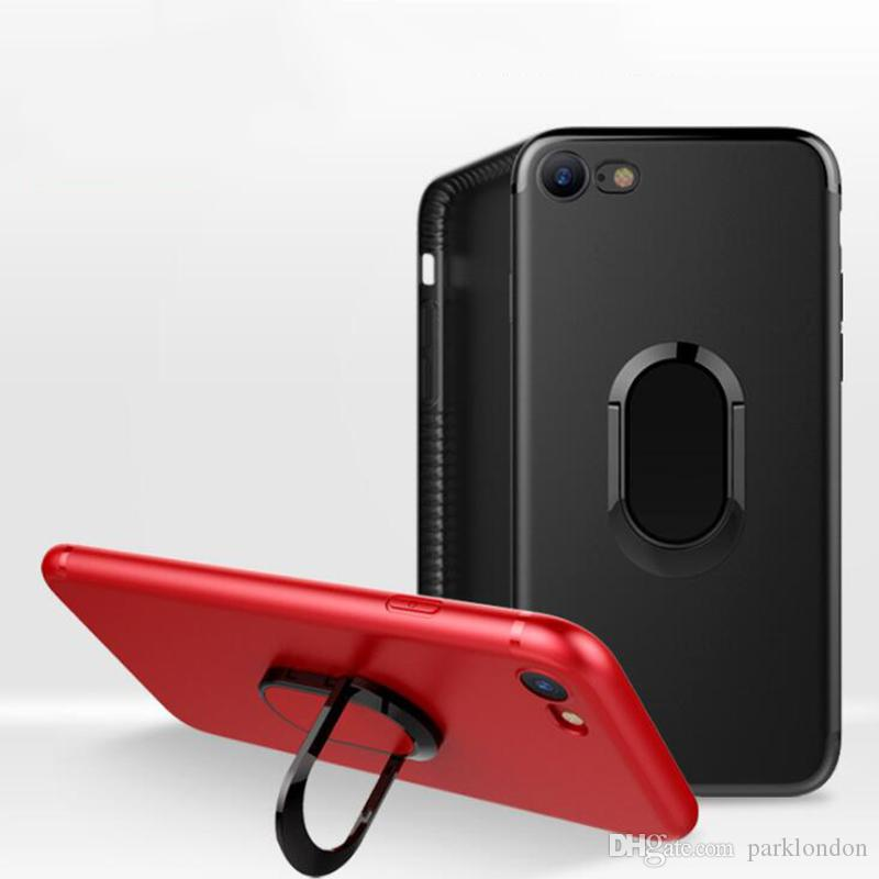 2018 hot 360 Ring Car Phone Holder Case Magnetic Cellphone Cover Armor iPhoneX Case for iPhone 8 7 Plus 6 6S Plus 5 5S SE