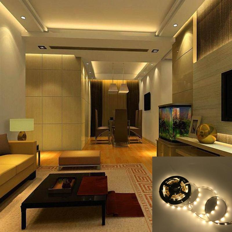 Indirect Lighting Techniques And Ideas For Bedroom Living: LED Strip SMD 3528 DC12V 60LEDs/M 5mFlexible LED Light