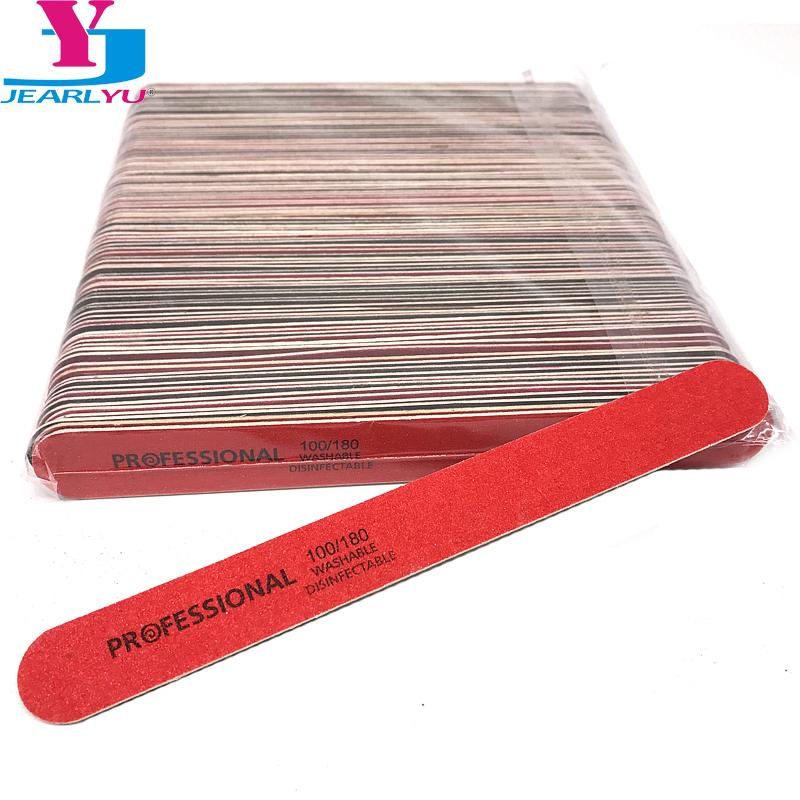 100 Pcs Disposable Nail File 100/180 High Quality Gel Nail Accessories  Professional Nails Tools Wooden Sandpaper Files Set