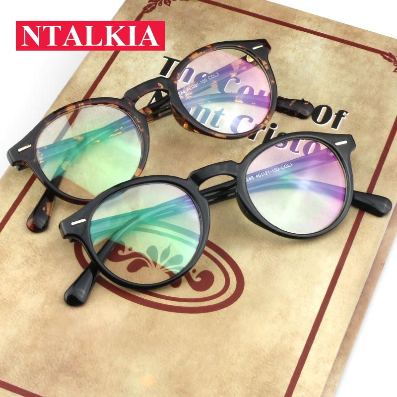a098236c157 2019 2018 Fashion Women Glasses Frame Men Eyeglasses Frame Vintage Round  Clear Lens Glasses Optical Spectacle From Mudiaolan