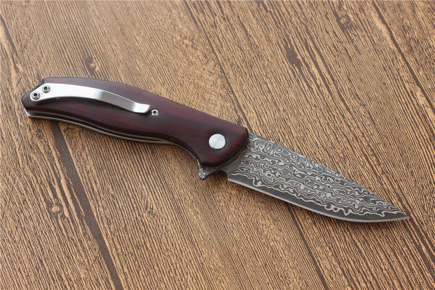 Hohe qualität damaskus Messer 58HRC Outdoor Survival Jagdmesser Taktische taschenmesser EDC klappmesser 1 stücke