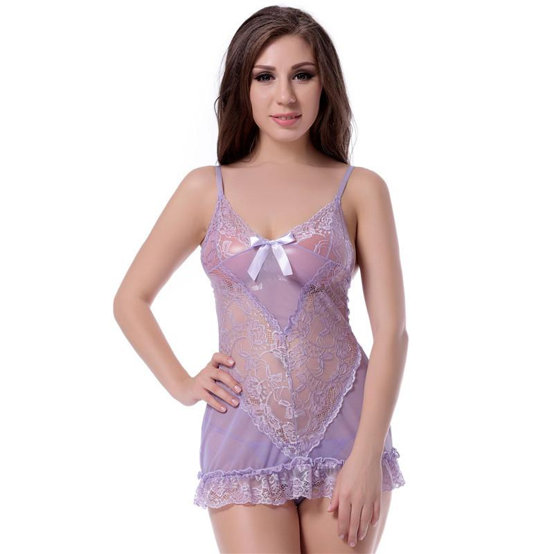 d6de17db8c Solid Floral Lace Halter Baby Doll Sexy Lingerie Women Transparent  Embroidered Hot Sexy Erotic Lingerie Plus Size Porno Costume S927 Ladies  Pjs Ladies ...