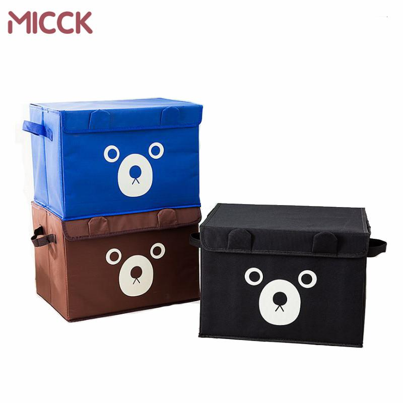 2018 Micck Portable Non Woven Fabric Storage Box Bins Closet Clothes Coat Toys Lidded Storage Bin Organizer Wardrobe Container From Chenjong ...  sc 1 st  DHgate.com & 2018 Micck Portable Non Woven Fabric Storage Box Bins Closet Clothes ...
