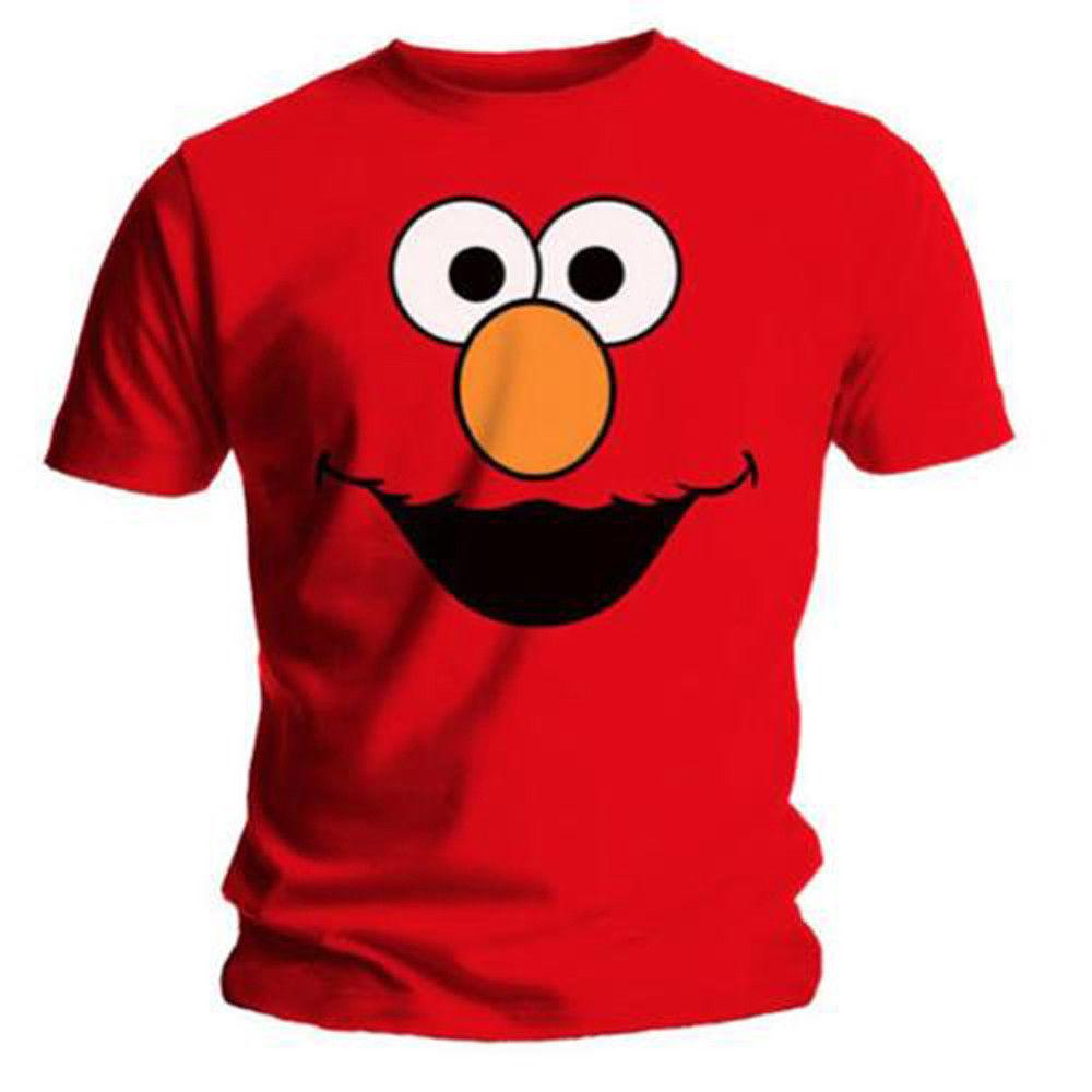 Elmo Cookies Official Sesame Street Elmos World Red Mens T-shirt Comfortable t shirt Casual Short Sleeve