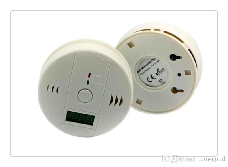 Alarma de Monóxido de Carbono Seguridad para el Hogar Pantalla LCD Detector de CO Detector de Envenenamiento Monitor de Gas Advertencia de Fuego Detector de Alarma Buena Calidad