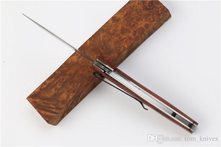 Borboleta quente DA100 Faca 3Cr15 56HRC todo o aço + madeira lidar com caça Camping selvagem presente faca frete grátis