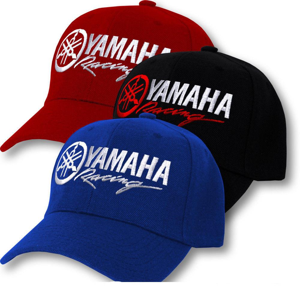 0807ca3cfe9 Yamaha logo cap factory racing motorcycle hat adjustable baseball cap men  women customized hats custom hat