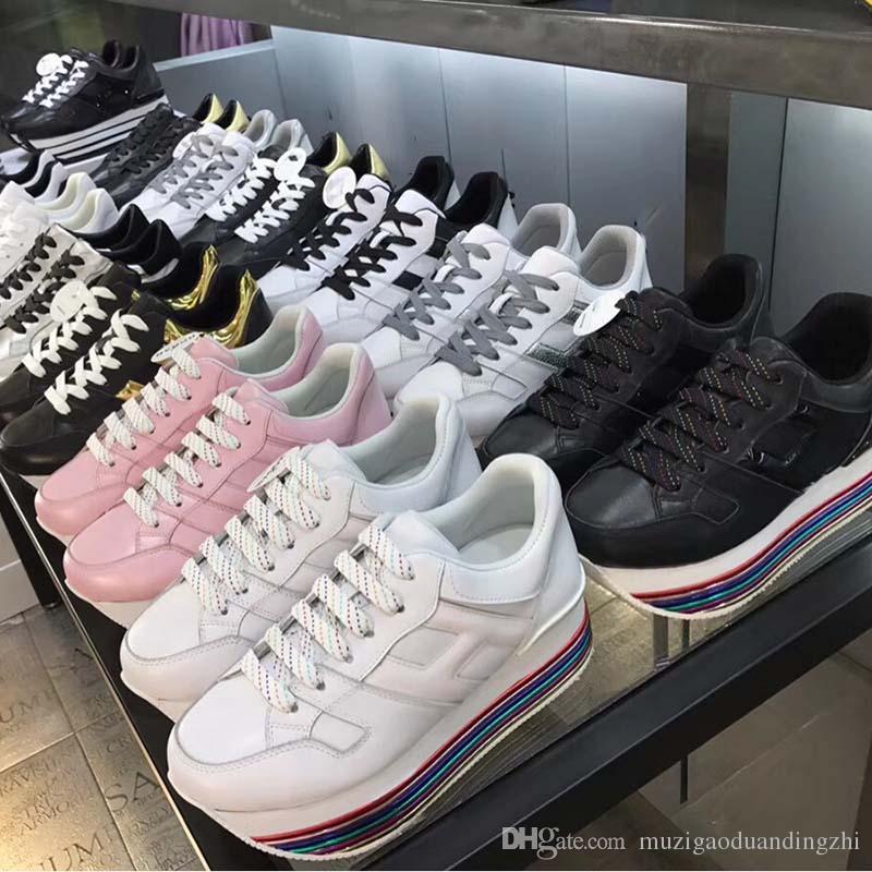 Épaisse Marque Acheter Vente Chaussures En Hot Femmes Cuir Semelle HW2IED9
