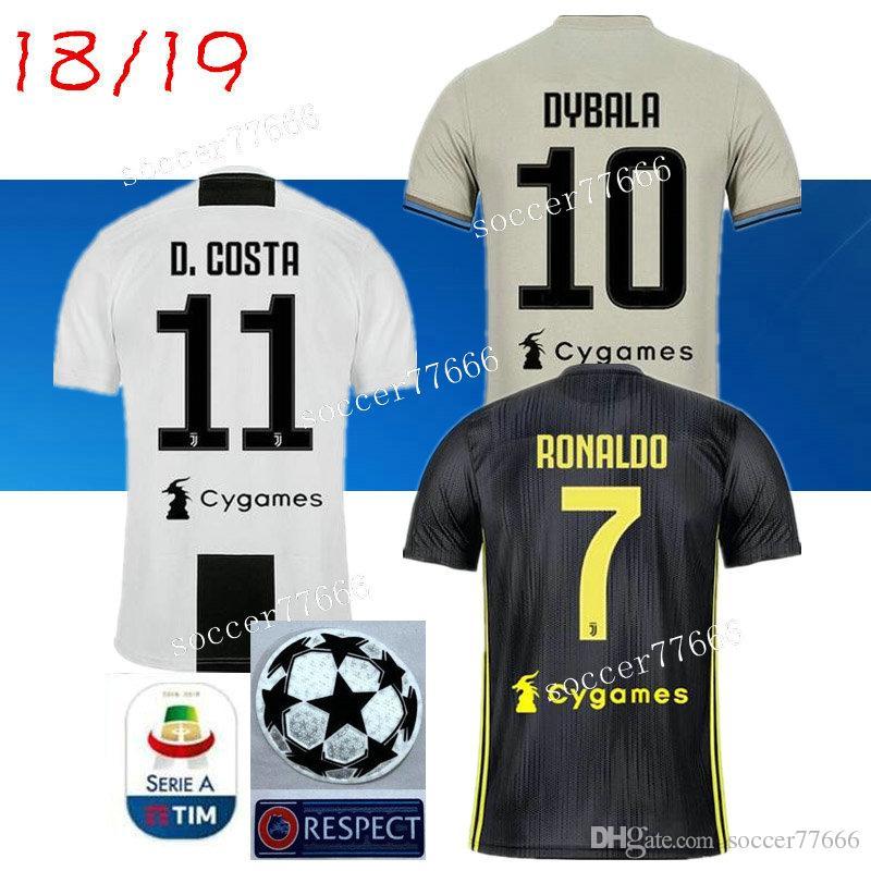 sneakers for cheap 2450b 7a1c5 AAA 2019 RONALDO JUVENTUS Soccer Jersey 18 19 JUVE 2018 DYBALA HIGUAIN  MATUIDI Camisetas Futbol Maillot Costa Football Shirt