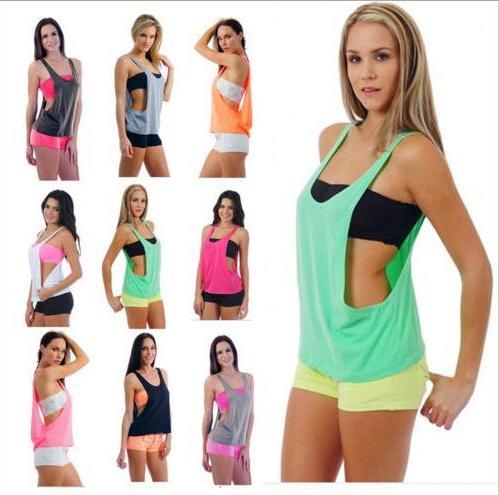 Ginnastica sportiva Grembiule da donna Gilet sportivo Yoga Allenamento Gilet Allenamento fitness Esercizio asciugatura rapida Abbigliamento sportivo Tee Canotte Canottiere Abbigliamento
