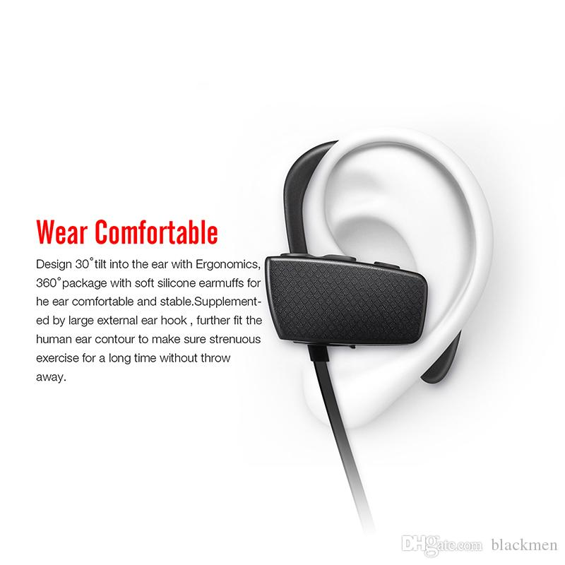 Touch Portable Neckband Noise Cancelling Stereo Headset Sport In Ear Earphone Earbuds Running wireless bluetooth 4.1 headphones for iPhone