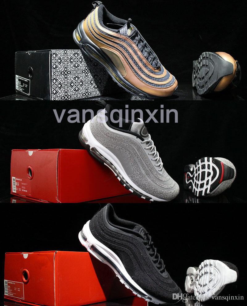 amazon cheap online free shipping 100% authentic UL 97 Skepta 97 lX Swarovski Casaul Running Shoes Top Quality 97 Bronze Vivid Sulfur-Black Outdoor Sports Shoes 36-45 cost online discount finishline CnuAET