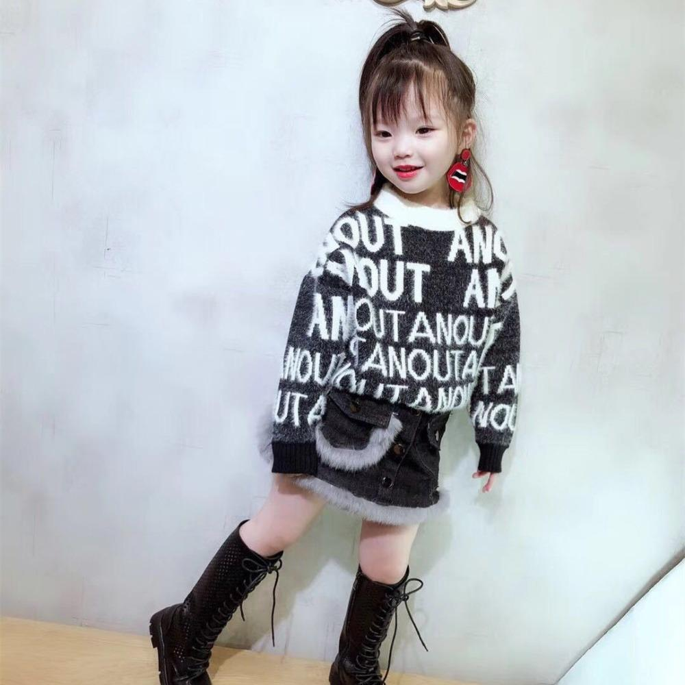 6e0fa5ab5 Sweater For Girls 2018 Winter Warm Mink Sweaters Girls Pullovers ...