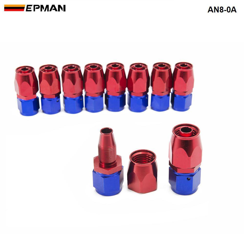 EPMAN -Universal AN8 Straight Oil/Fuel Line Hose End Aluminum Fitting/8-AN Oil Cooler Hose Fit AN8-0A AN8-0A