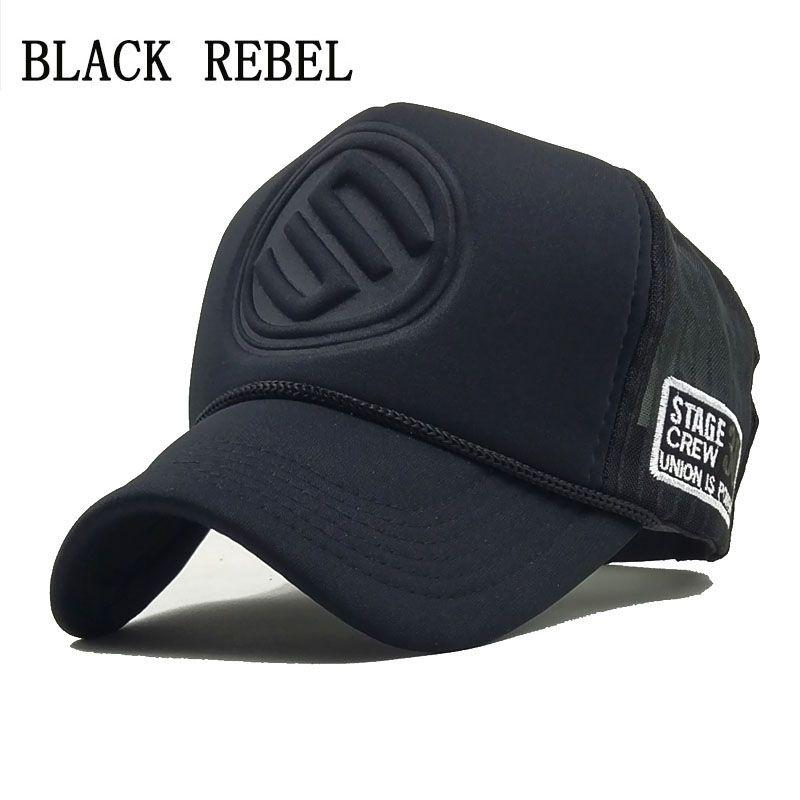 6ea658cbaac7e7 Black Rebel 2018 Hip Hop Black Leopard Print Curved Baseball Caps Summer  Mesh Snapback Hats For Women Mencasquette Trucker Cap Lids Hats Visors From  Zeipt, ...