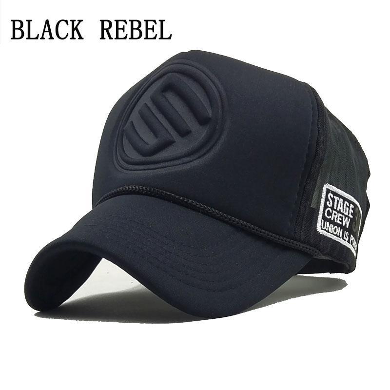 Compre Rebelde Negro 2018 Hip Hop Estampado De Leopardo Negro Gorras De  Béisbol Curvas Malla De Verano Sombreros Del Snapback Para Mujeres  Mencasquette ... 96439615da0