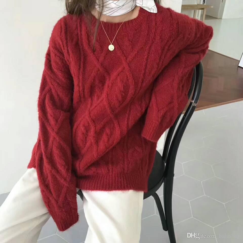 best service 63025 e9361 Warme rote Pullover für den Herbst