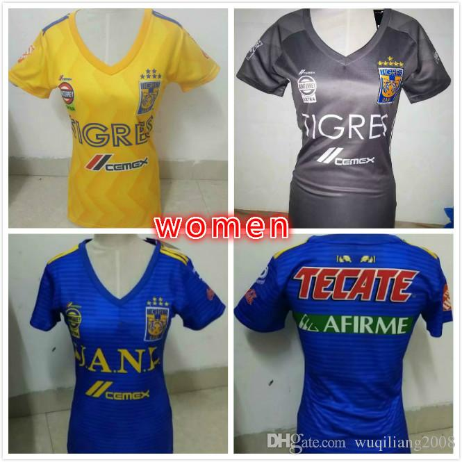 1454e0d7a 2019 2018 2019 Tigres UANL WOMEN SOCCER JERSEY 18 19 Tigres UANL GIGNAC  DAMIAN VARGAS ZELARAYAN HOME AWAY Woman BEST QUALITY From Wuqiliang2008