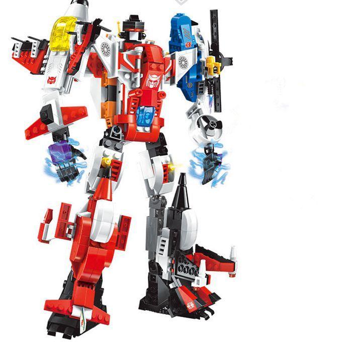 3 style new Transformation Robot Figures Building Bricks Enlighten Mecha 6in1 Building Blocks Action Figures Bricks Toy