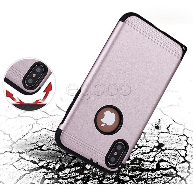 2 في 1 Frosted Defender Case جديد Hybrid Robot Cases غطاء ل iPhone X XR XS Max 8 7 6 6S Plus 5 5S SE Samsung S8 Plus Note8