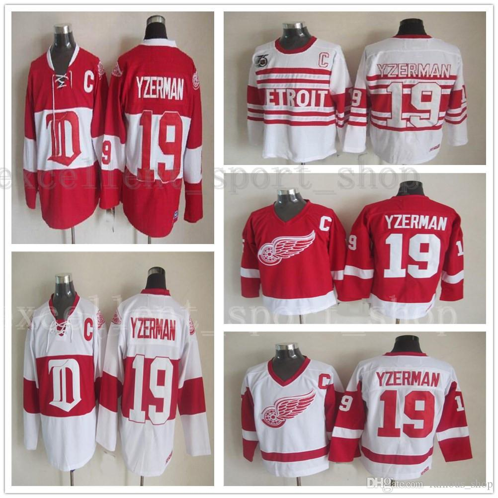 australia mens vintage detroit red wings 19 steve yzerman hockey jerseys  home red vintage winter classic e4f9d7aa5