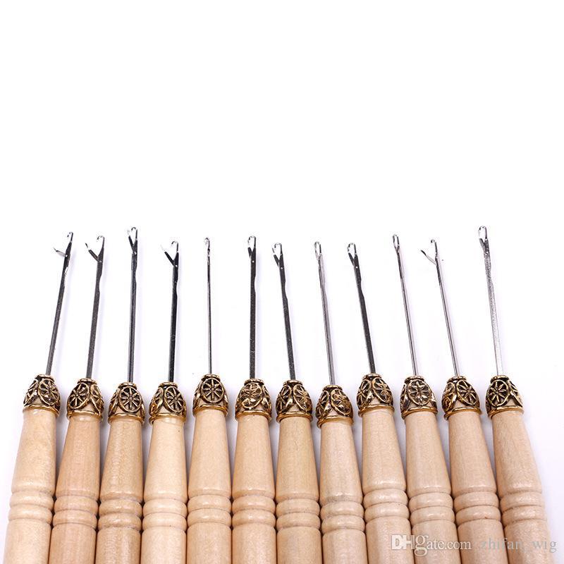 ZF волос крюк иглы деревянные аксессуары для волос сырье высокого качества для наращивания волос инструмент 12 шт./компл.